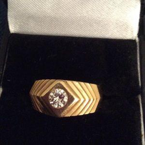 Other - Men's 14k Gold & Diamond Ring